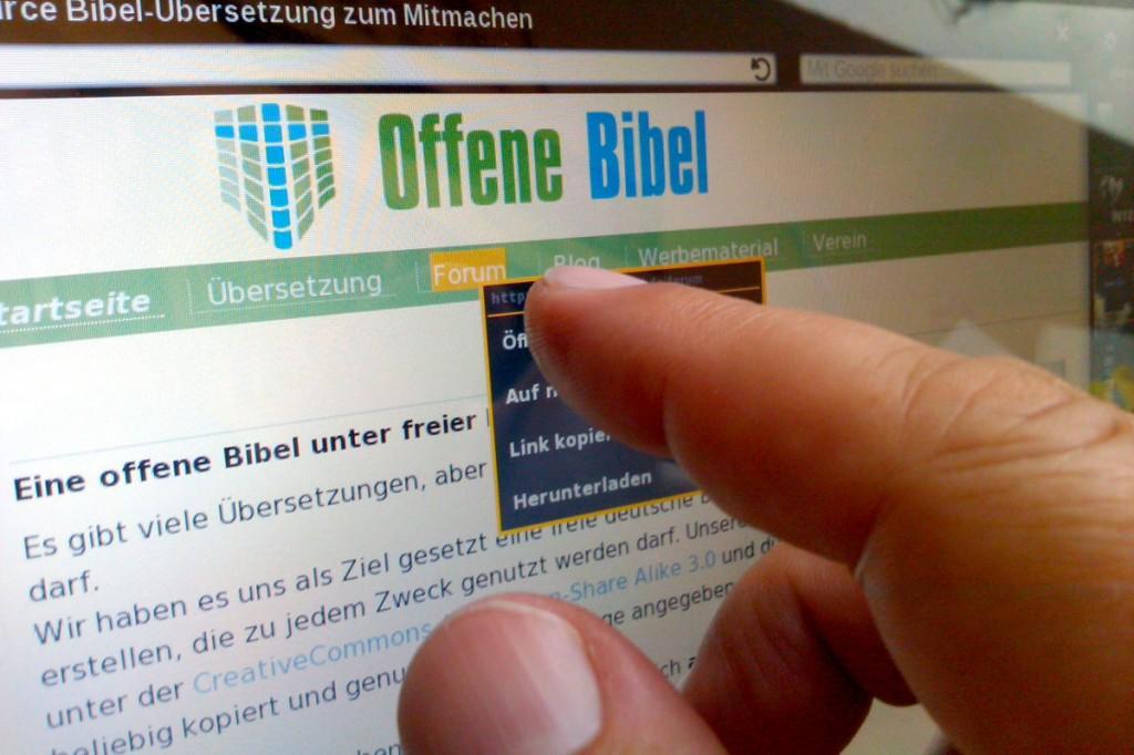 Die Projekt-Homepage der Offenen Bibel