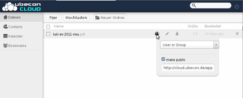 Dateien mit anderen teilen ist schnell erledigt mit ownCloud