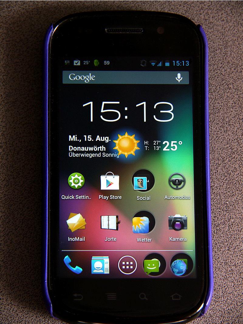 Das Google Smartphone Nexus S unter Jelly Bean