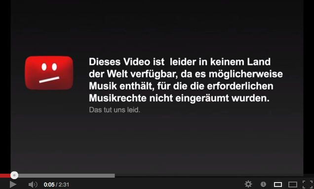 Bildschirmfoto youtube