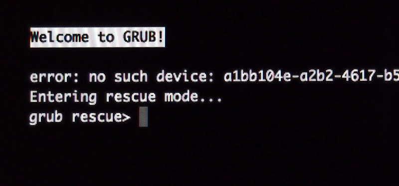 Rescue Modus Grub