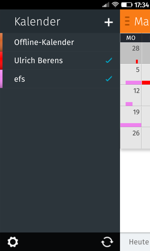 Kalender in Firefox OS